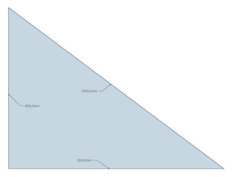 Formel für einen rechten Winkel
